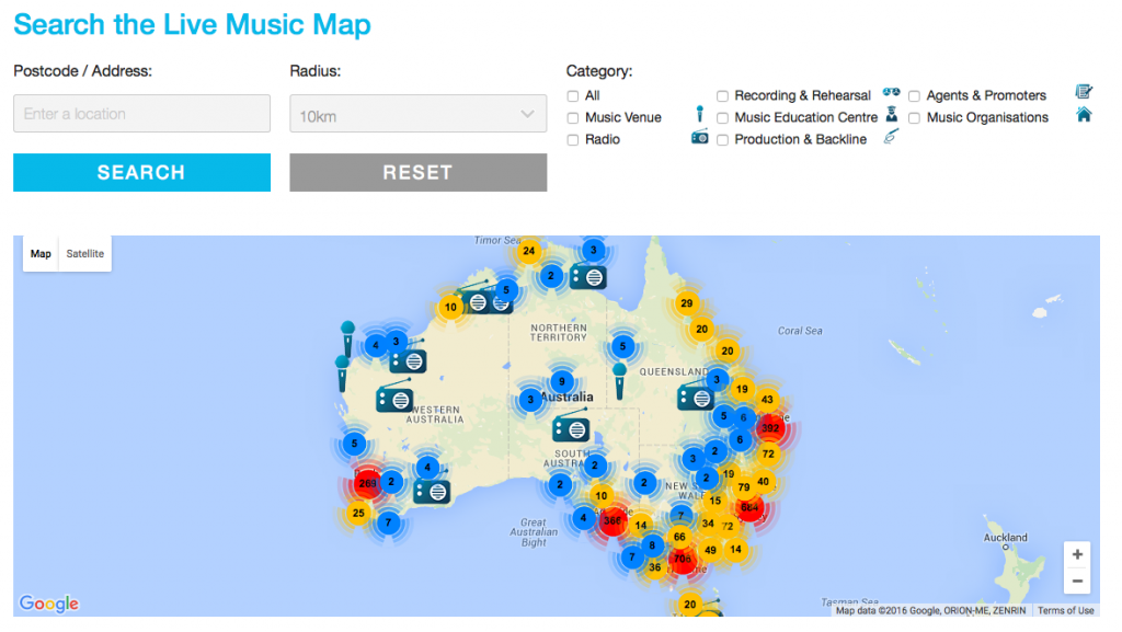 Live Music Map image 1